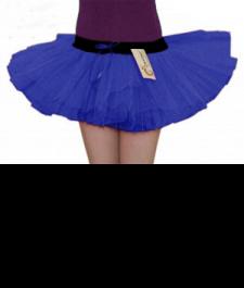 Crazy Chick 3 Layers Royal Blue TuTu Skirt