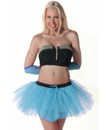Crazy Chick 3 Layers Turquoise TuTu Skirt
