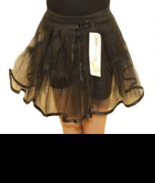Crazy Chick 4 Layer Black TuTu Skirt