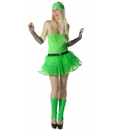 Crazy Chick 4 Layers Green TuTu Skirt
