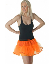 Crazy Chick 4 Layers Orange TuTu Skirt