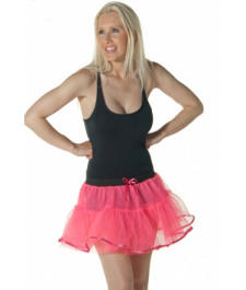 Crazy Chick 4 Layers Pink TuTu Skirt With Bow