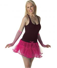 Crazy Chick Sequin 4 Layers Pink TuTu Skirt