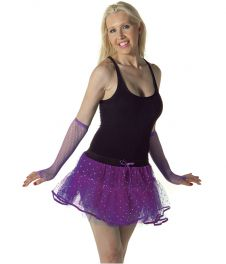 Crazy Chick Sequin 4 Layers Purple TuTu Skirt