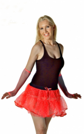 Crazy Chick 4 Layers Red Sequin Devil TuTu Skirt