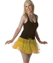 Crazy Chick Sequin 4 Layers  Yellow TuTu Skirt