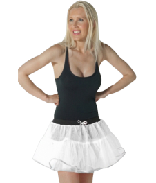 Crazy Chick 4 Layers White Angel TuTu Skirt