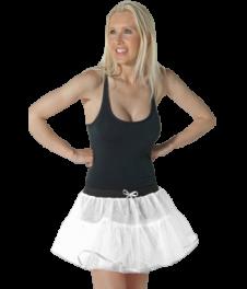 Crazy Chick 4 Layers White Angel TuTu Skirt