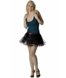 Crazy Chick 4 Layers Black Pink TuTu Skirt With Bow