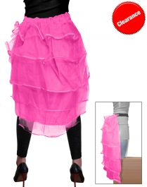 Crazy Chick Pink Bustle Skirt