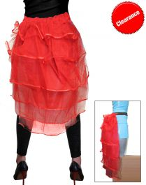 Crazy Chick Red Bustle Skirt