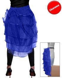 Crazy Chick Royal Blue Bustle Skirt
