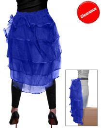 Crazy Chick Royal Blue Bustle Skirt