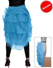 Crazy Chick Turquoise Bustle Skirt