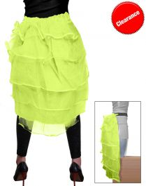 Crazy Chick Yellow Bustle Skirt