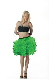 Crazy Chick 5 Layers Green TuTu Skirt with Ribbon (Approximately 18 Inches Long)