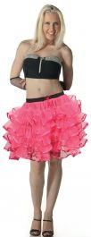 Crazy Chick 5 Layers Pink TuTu Skirt with Ribbon (Approximately 18 Inches Long)