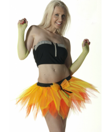 Crazy Chick 6 Layer Orange Yellow Petal TuTu Skirt