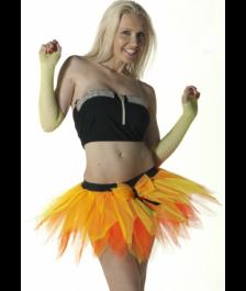 Crazy Chick 6 Layer Orange Yellow Petal TuTu Skirt