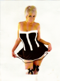 Crazy Chick Black French Maid Dress Costume