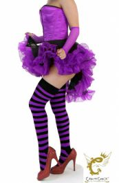 Crazy Chick Black Purple Burlesque Ruffle TuTu Skirt