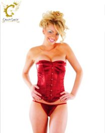 Crazy Chick Boned Red Corset