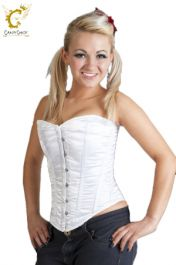 Crazy Chick Boned White Corset