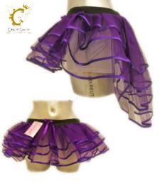Crazy Chick 3 Layers Purple Burlesque TuTu Skirt