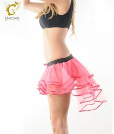 Crazy Chick 3 Layers Pink Burlesque TuTu Skirt