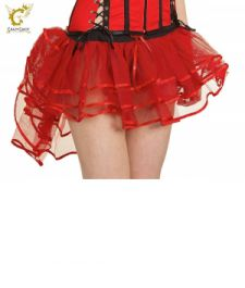 Crazy Chick 3 Layers Burlesque Red Devil TuTu Skirt