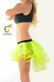 Crazy Chick 3 Layers Yellow Burlesque TuTu Skirt