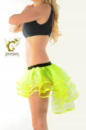 Crazy Chick 3 Layers Yellow Burlesque TuTu Skirt