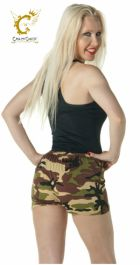 Crazy Chick Microfiber Camouflage Hot Pants