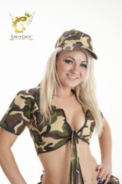 Crazy Chick Camouflage Shrug Top