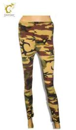 Crazy Chick Girls Microfiber Camouflage Leggings