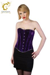 Crazy Chick Full Bust Purple Velvet