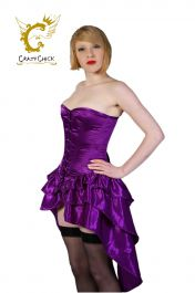Crazy Chick Fullbust Bustle Corset Purple (Steel Bone)