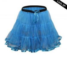 Crazy Chick Girls 2 Layers Turquoise Petticoat  TuTu Skirt (18 Inches Long)