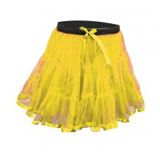 Crazy Chick Girls 2 Layers Yellow Petticoat TuTu Skirt (18 Inches Long)