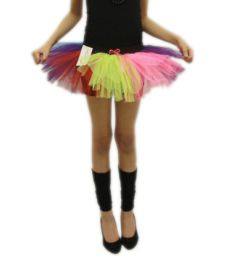 Crazy Chick Girls 3 Layers Rainbow TuTu Skirt