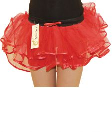 Crazy Chick Girls 3 Layers Red Burlesque TuTu Skirt