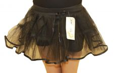Crazy Chick Girls 4 Layers Black TuTu Skirt