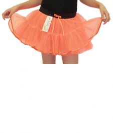 Crazy Chick Girls 4 Layers Orange Tutu Skirt