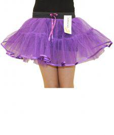 Crazy Chick Girls 4 Layers Purple TuTu Skirt