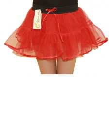 Crazy Chick Girls 4 Layers Red TuTu Skirt