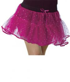 Crazy Chick Girls Sequin 4 Layers Pink TuTu Skirt