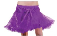 Crazy Chick Girls Purple Layered Ruffle Petticoat TUTU Skirt