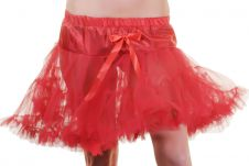 Crazy Chick Girls Red Layered Ruffle Petticoat TUTU skirt