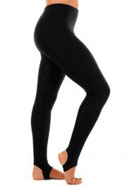 Crazy Chick Girls Shiny Black Stirrup Leggings