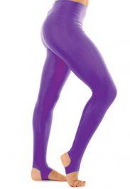 Crazy Chick Girls Shiny Purple Stirrup Leggings